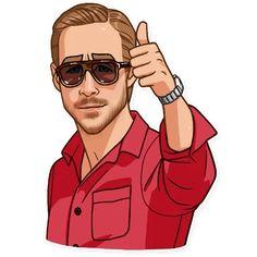 Набор стикеров для Telegram «Райан Гослинг» Emoji Man, Animated Emoticons, Ad Of The World, Fun Illustration, Fanart, Photoshop, Cartoon Pics, Poses, Picsart