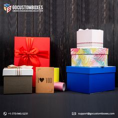 Custom Gift Boxes are prepared to keep your gift safe from any type of harm.  #Packaging #boxes #gift #love #giftideas #fashion #present  #art #design #GoCustomBoxes #USA