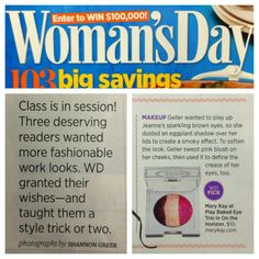 Get schooled in beauty! Take a beauty lesson from Woman's Day, who featured the Mary Kay At Play™ Baked Eye Trio to play up the eyes!