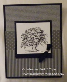Masculine Swap card using Lovely as a Tree stamp set and some DSP