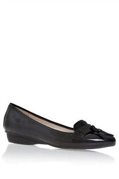 Black Patent Slipper Shoes