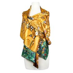 Silk Scarf Klimt TREE OF LIFE GOLD