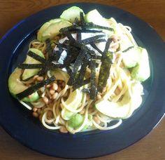 Avocado Natto Spaghetti:)