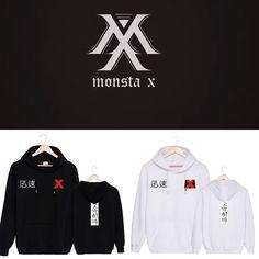 KPOP MONSTA X New Album Cap Hoodie Sweater Unisex Jacket HyungWon JooHeon Coat #Unbranded
