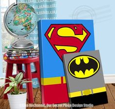 Superhero Canvas Wall Art Super Hero Room Decor Superhe