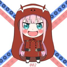 Kawaii Zero Two - Darling in the Franxx -*-*-*-* Kawaii Chibi, Anime Chibi, Manga Anime, Anime Art, Kawaii Faces, Otaku Anime, Himouto Umaru Chan, Waifu Material, Zero Two
