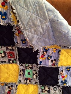 Mickey Mouse quilt for Jasmine's baby boy