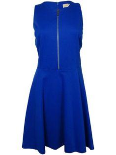 MICHAEL Michael Kors Women's Half-Zip Ponte A-Line Dress