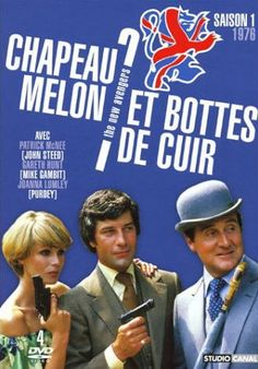 The New Avengers (TV) Joanna Lumley ✾ Patrick Macnee and Gareth Hunt as seen in France