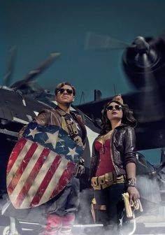 Captain America and WWII Wonder Woman