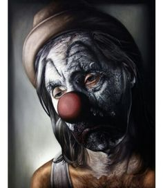 """Heretic"" X Painting by Michael LaBua! Circus Art, Alexander Calder, Evil Clowns, Halloween Face Makeup, Painting, Image, Studio, Website Layout, Design Agency"