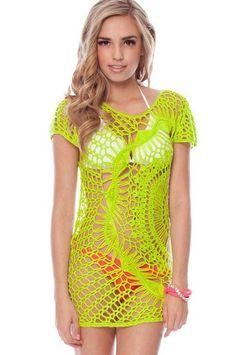 Crochet patterns: Free Crochet Pattern for Sparkle & Swirl Tunic by Urbanotfitters Mode Crochet, Crochet Tunic, Diy Crochet, Crochet Clothes, Crochet Bikini, Beach Crochet, Crochet Tops, Crochet Designs, Crochet Patterns