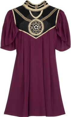ShopStyle: Temperley London Alexandria embellished silk tunic: