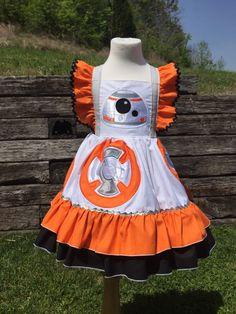 Star Wars BB8 Inspired Nova Twirl Dress for Girls Sizes