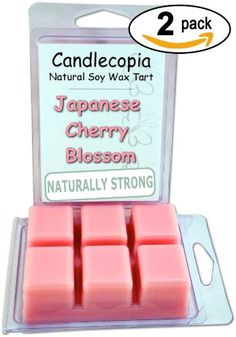 Japanese Cherry Blossom 6.4 oz Scented Wax Melts - Fragrant blossoms of Japanese cherry tree along with a hint of vanilla, a touch of lily and a bit of rose - 2-Pack of naturally strong scented soy wax cubes throw 50+ hours of fragrance when melted in Scentsy®, Yankee Candle® or standard electric tart warmer Candlecopia,http://www.amazon.com/dp/B00K4OQ4HU/ref=cm_sw_r_pi_dp_fdsDtb0RFPQ3CHXH