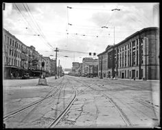 Canal St during the Streetcar Strike in July 1929