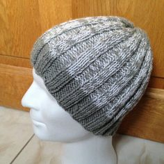 Tutoriel Bonnet tricot en côtes 3/3 pour homme ou femme Free pattern for knitting Hat man or woman