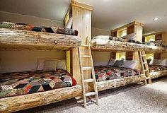 Heber City lodge rental - Log Bunk Bed Room; 6 Queen beds