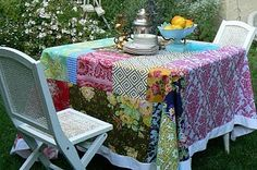 patchwork tablecloth, glorious