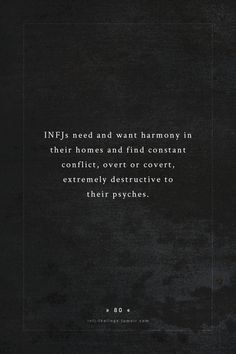 INFJ  this is completely exactly correct...it's hell