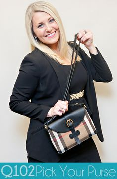 Burberry - Milton Leather & House Check. Go to wkrq.com to find out how to play Q102's Pick Your Purse!