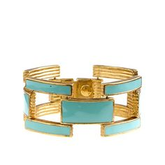 Squared enamel-link bracelet
