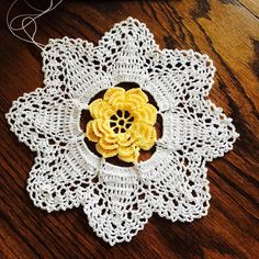 Yellow Rose Doily. One of my work in progress from the book A Year of Doilies book 4.  #crochet #crochetersofinstagram #crocheted #crocheter #crocheteddoily #crocheting #crochetgeek #crochetaddict #threadcrochet #crochetlove #crochetlovers #hobby by crochet_xstitch