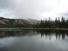 Scout Lake with Hayden Peak in the distance. Uintah Mountain Range, Utah