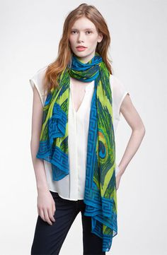 Theodora and Callum 'Peacock' Scarf