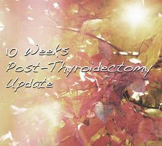 An update on how I'm doing 10 weeks after thyroid surgery.