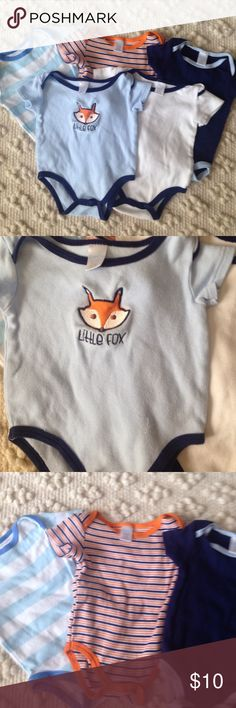 Lot of 5 Onesies All are 3-6 months. You can never have too many onesies! Baby Kiss One Pieces Bodysuits