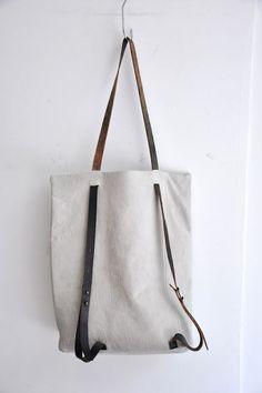 How cool, it can be a bag or a backpack.  I love this idea