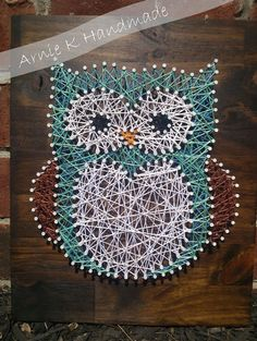 String Art Owl Nursery Decor Wall Decor Modern by ArnieKHandmade, $60.00