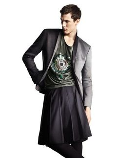 Let´s celebrate men in dresses - The sadly never-launched-in-America Men's skirt from H