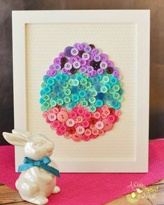 Easter egg mason jars easter crafts masons and i know it adult diy diy easter button craft with free template this pretty framed diy button egg is easy to make and will look so cute as part of your spring and negle Choice Image