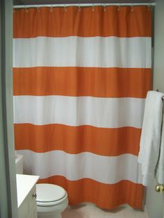 Orange And Grey Shower Curtain Submited Images.