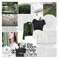 """green"" by browneyesb ❤ liked on Polyvore featuring moda, Avenue, Steve Madden, Matouk, Kelly Wearstler, Chanel e Assouline Publishing"