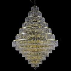 Materials: Crystal,Metal Power: 38*40W Bulb Base: 38*E14(220-240V),E12(110-120V) Bulb Included or Not: Bulb not included Hanging chain: 50cm ( The length of the chain can be freely adjusted ) Input Voltage: 110-120V,220-240V