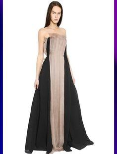 Yang Li #Pleated #Silk Bustier #Dress #maifashion