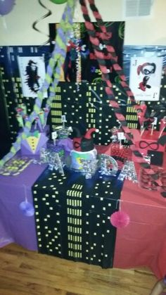 Harley Quinn Party Decor Party Ideas Pinterest