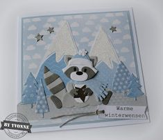 Kaarten & zo: 52 weeks to Christmas. Marianne Design Cards, 52 Weeks, Die Cut Cards, Christmas Cards, Challenges, Stamp, Scrapbook, Winter, Crafts