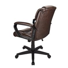 Brenton Studio Briessa Mid Back Vinyl Chair BrownBlack by Office Depot & OfficeMax
