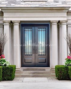 If you are planning to replace your front door, then buying an iron door is the best decision for you! 💡 About this design: Soho Double Entry Iron Door ☎️️ 877-205-9418 🌐 www.iwantthatdoor.com Wrought Iron Doors, Soho, Garage Doors, Outdoor Decor, Design, Home Decor, Decoration Home, Wrought Iron Gates, Room Decor