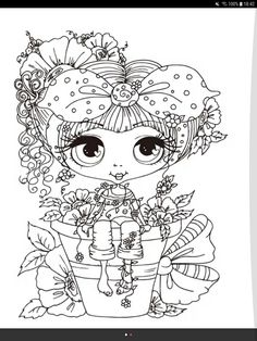 Printable Adult Coloring Pages, Cute Coloring Pages, Colouring Pics, Coloring Books, Colorful Drawings, Colorful Pictures, Cute Drawings, Digi Stamps Free, Digital Stamps