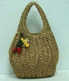 Crocheted Bag.