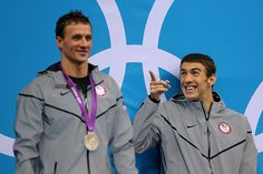Ryan Lochte and Michael Phelps; love that funny smile!!!