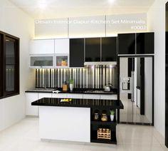 desain interior minimalis pantry mini bar kitchen ids