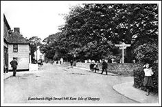 EASTCHURCH HIGH STREET 1940 ISLE OF SHEPPEY