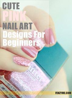 50 Cute Pink Nail Art Designs for Beginners: 2015 Nail Art Designs, Fingernail Designs, Cute Pink Nails, Pink Nail Art, Mani Pedi, Manicure, Beauty Must Haves, Perfect Nails, Nail Care