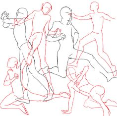 "kelpls: ""practicing drawing some waltzes with a couple of random hiphop-ish poses at the end I LIKE DRAWING PEOPLE DANCING """